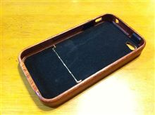 iPhone4S用天然木製ケース(レッドピアウッド)