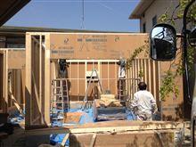 横浜市A様邸で建て方ありました