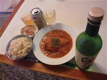 鶏肉のトマト煮+たけのこご飯
