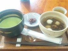 松江城見ながらぜんざい