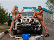 美女が誘導する無料洗車の結末は・・・?世の中そんなに甘くない・・・!
