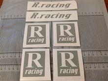 R.racingステッカー