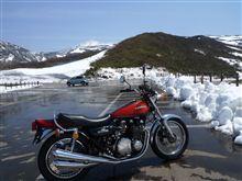 バイクで鳥海ブルーラインへ
