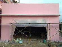 ガレージの外壁塗装