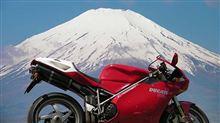 DUCATI 998sと見事な富士山