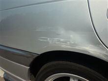 今日午後… 初心者マークを付けた未成年に車をぶつけられた…