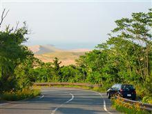 3つの海を制する夕日ハンター、鳥取砂丘に立つ^^