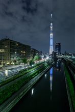 The night view of a Sky Tree!