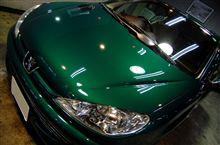 青い空と風を感じられる車。プジョー206ccのガラスコーティング【ラディアス川崎】