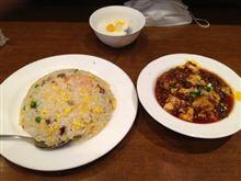 中華街で麻婆豆腐