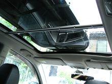 [エクシーガ] ガラスルーフ車の天井にリヤモニタを設置(その2. 材料加工)