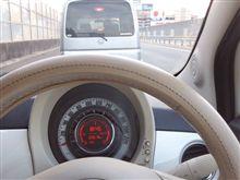山陽道下り線広島インター付近渋滞中