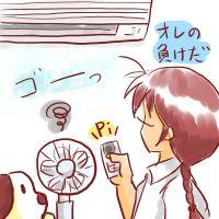 冷やすエアコンはじめました♪