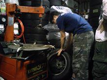 池平前の準備とタイヤ組み練習