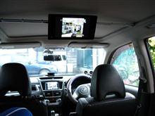 [エクシーガ] ガラスルーフ車の天井にリヤモニタを設置(その3. モニタ設置)