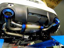 純正バンパー用 ExhaustSystem PREMIUM01TR『HEAT BLUE TITAN』完成(^^♪