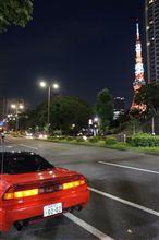 7/23(月) 仕事から帰って、食後に東京へドライブ