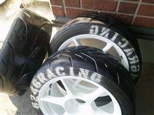 タイヤのグリップが良くなることを期待して・・・