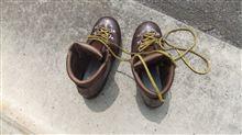靴磨きしました