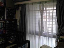 ミニカー部屋のカーテン洗濯