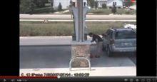 ■ガソリンスタンドの豆知識!!ガソリンスタンドの床面は必ず傾斜が付けてあるため、勾配注意!!  1by  AUTOWAY