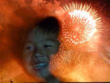 毎年恒例のPL花火で、今年は奇跡の1枚が撮れました。