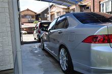 朝から洗車(2台)