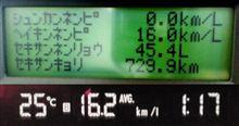 燃費報告 ― 16.48km/L