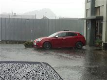 土砂降りでした