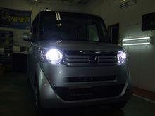 兵庫県 姫路市 セキュリティラウンジ姫路様 大人気のNBOXにHID&LED取り付けです!