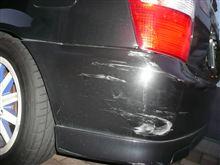 事故った。。。というか、ぶつけた・・・
