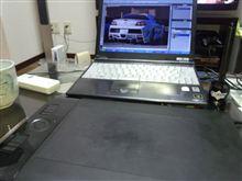 RX-8用新商品のデザインをフォトショでしてみた