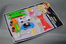 香港製 プラ玩具、ガソリンスタンドセット