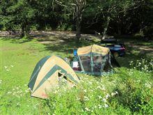 戸隠高原でキャンプ