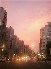 日本橋の夕焼け空