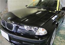BMW3シリーズ 磨き完了 (ガラスコーティング 大阪)