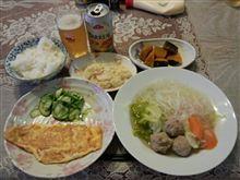 プレーンオムレツ+肉団子スープ