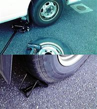 定期洗車と・・・キャラバン タイヤローテーション