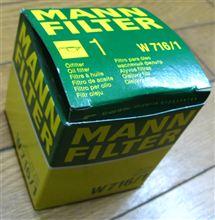【307SW】オイル(TOTAL)・エレメント(MANN-FILTER W 716/1)交換