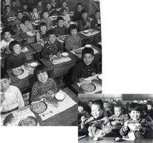 給食 近所で学校給食展があったので