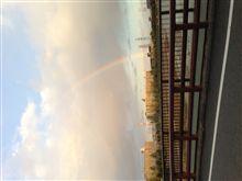 武庫川に大きな虹が