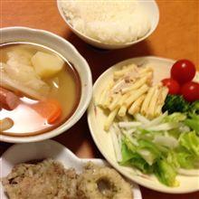 なるべく野菜を食べる努力f^_^;)