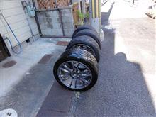 サーキット用タイヤを洗いました