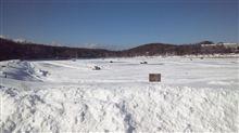 女神湖氷上走行申し込み。