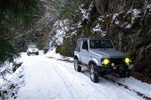 雪中林道を行く (2012.12.25)