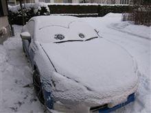 BRZ、吹雪の中を帰還