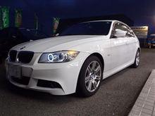 BMW E90 320 REMUSマフラー交換&ホワイトリング