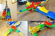 レゴ作品その1(デュプロ スカイツリーと航空機)