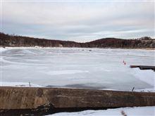 女神湖 氷上走行。 (2013年 1回目)
