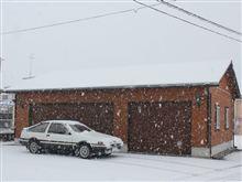 大雪の中をハチロク出撃